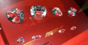 Bucati de diamant Excelsior, denumite cu cifre romane