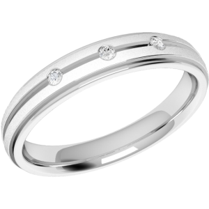 verigheta aur alb de 18 k cu 3 diamante